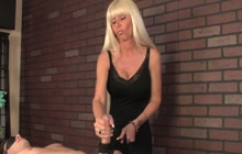 Blonde Masseuse Gives Handjob
