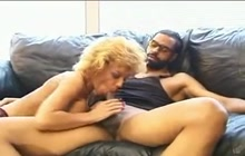 Blonde mature fucks on the interview