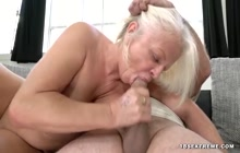 Mature Lady got lucky when she found this hot stud