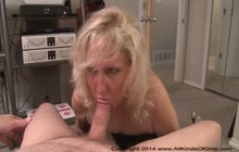 Blonde lady gets buttfucked