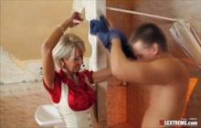 Blonde Divorcee Loves Big Cock