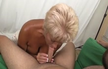 Mature photographer giving an awesome blowjob
