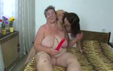 Mature BBW and her friend in action
