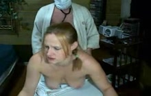 Couple in patient-doctor role play fuck session