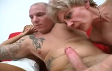 Hot threesome sex with two nasty older sluts