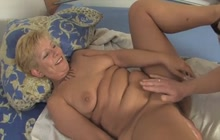 Blonde slut fucked in the asshole