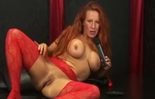 Faye Rampton toying pussy and ass
