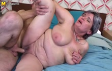 Fat mature girl getting fucked hard