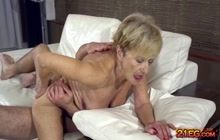 Malya gets her old hairy cunt ploughed hard